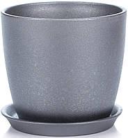 Горщик Сонет 8*8*0,25 чорний перламутр, кераміка