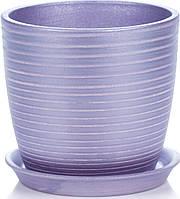 Горщик Сонет 18*17*3,0 лаванда глянець серпантин, кераміка