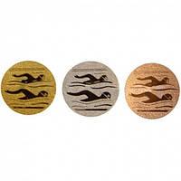 Наклейка (жетон) на медаль, кубок Плавание(диаметр 2,5 см, 1 уп - 120 шт)
