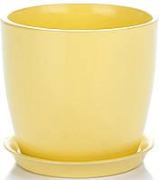 Горщик Сонет 13*12,5*1,0 жовтий глянець, кераміка