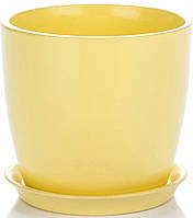 Горщик Сонет 15*14,5*2,0 жовтий глянець, кераміка