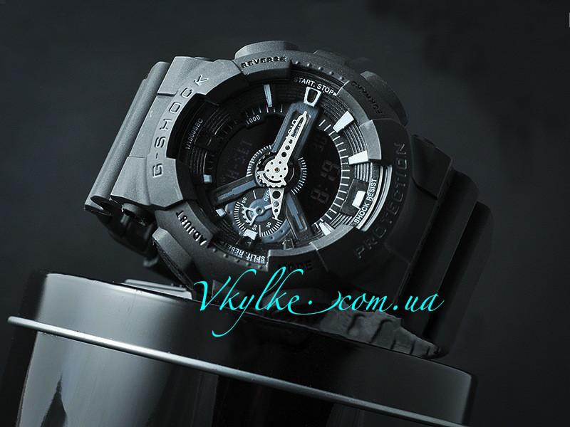 Спортивні чоловічі годинники Casio G-Shock GA-110 чорні