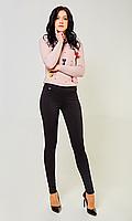 Женские лосины имитирующие брюки №1682 (черные)