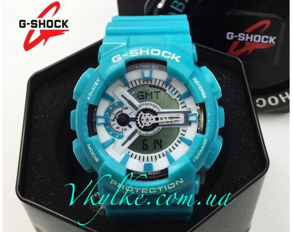 Спортивные мужские часы Casio G-Shock GA-110 бирюзовые
