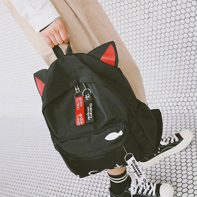 Рюкзак из нейлона с ушками