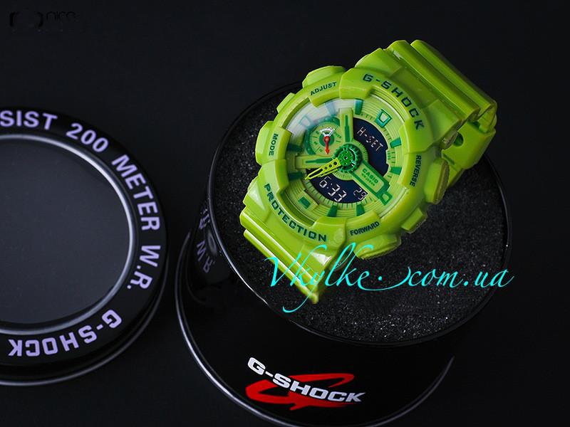 Спортивные мужские часы Casio G-Shock GA-110 салатовый