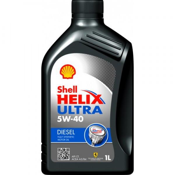 Синтетическое моторное масло Shell Helix Diesel Ultra 5w/40 1л