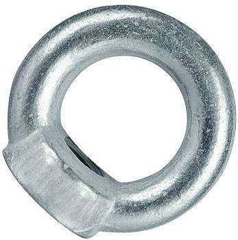 Рым гайка М16 оцинкованная с кольцом , фото 2