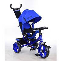 Детский трехколесный велосипед Turbo Trike M 3113-14, колеса EVA,синий индиго