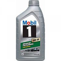 Синтетическое моторное масло Mobil 1 0W-20 1 л.