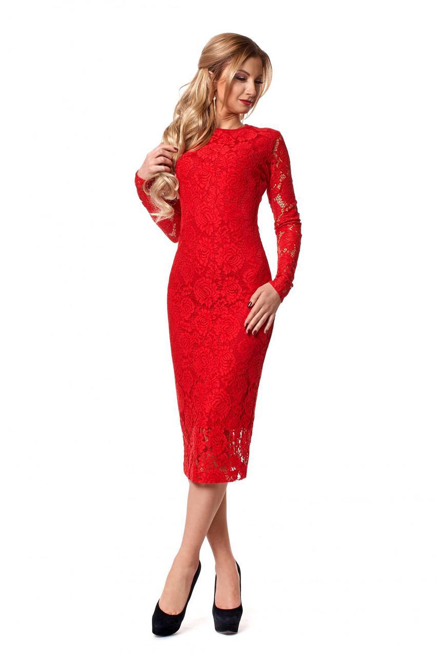 Красивое нарядное вечернее платье из гипюра