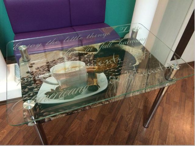 стіл кухонний скляний КТ 01