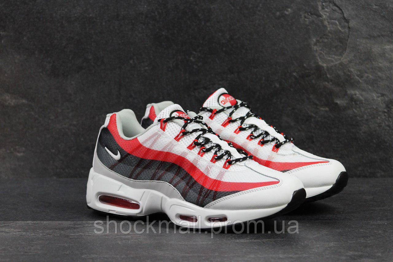 63269b63 Кроссовки мужский Nike Air Max 95 белые с красным Вьетнам реплика -  Интернет магазин ShockMall в