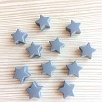 Мини звездочки ( бусины из пищевого силикона) - Темно-серый