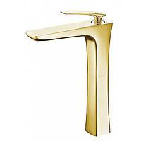 Однорычажный смеситель для раковины высокий Newarc Life 981008 золото