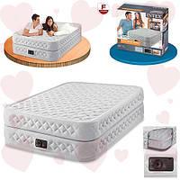 Intex 64462 (99-191-51 см.) Односпальная надувная кровать + встроенный электронасос 220В
