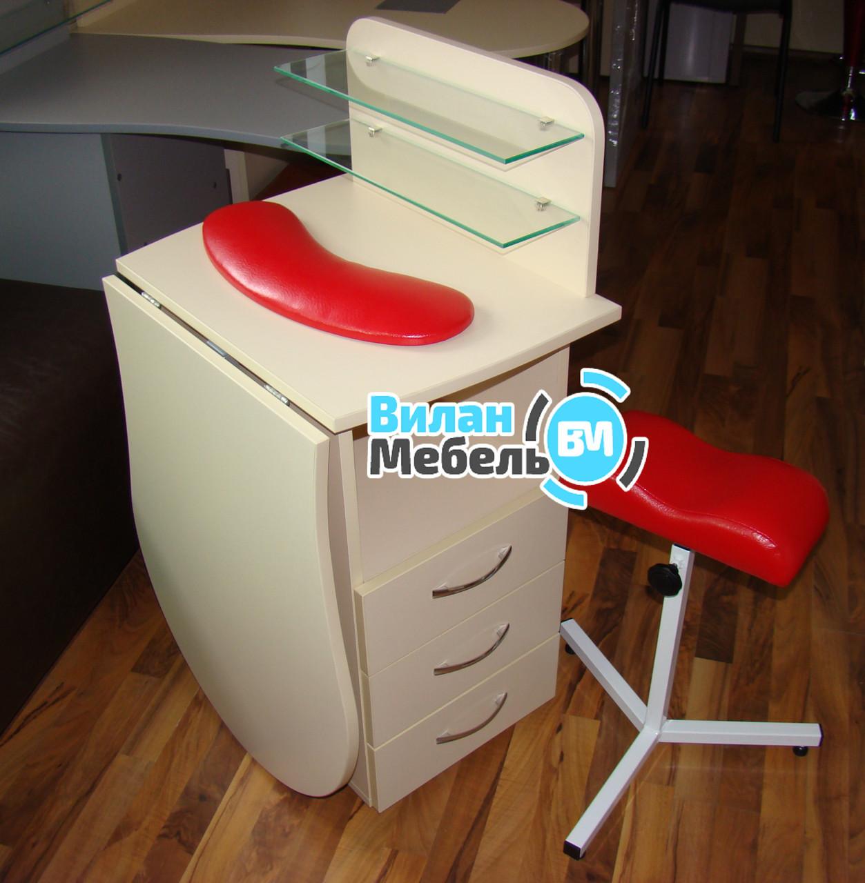 """Маникюрный стол """"Трансформер"""" +подкова+тринога для педикюра"""