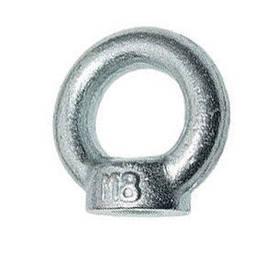 Рым гайка М8 оцинкованная с кольцом