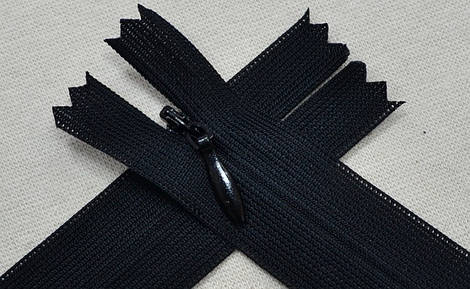 Молния потайная чёрная арт.14016, цена за упаковку(50шт.)