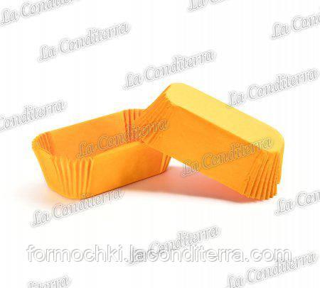 Бумажные формы для эклеров оранжевые Р-8 (80х35 мм, высота - 30 мм), 2000 шт.