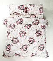 Постельное белье Lotus Ranforce - Angelique V1 розовое семейное