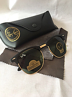 Солнцезащитные очки Ray Ban Clubmaster зеленый стекло комплект