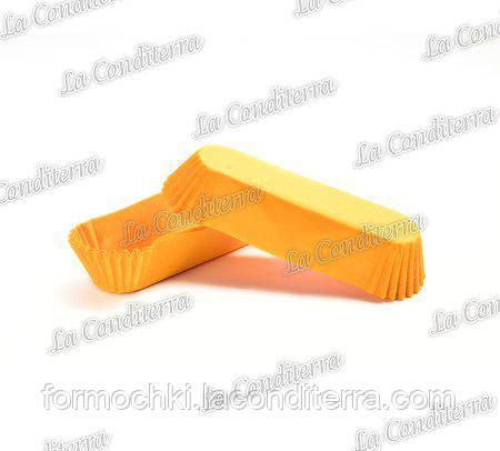 Бумажные формы для эклеров и пирожных оранжевые Р-10 (100х35 мм, высота - 30 мм), 2000 шт.