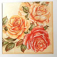 Салфетка для декупажа, корейская роза