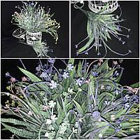 Пластиковая кувшинка - искусственные цветы, выс. 42 см., 7 веточек, 60/50 (цена за 1 шт. + 10 гр.)