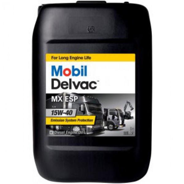 Минеральное моторное масло Mobil Delvac MX ESP 15W-40 20 л