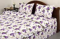 Постельное белье Lotus Ranforce - Limoges V2 лиловое семейное