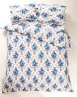 Постельное белье Lotus Ranforce - Loise V1 синее семейное
