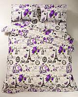 Постельное белье Lotus Ranforce - Louvre лиловое семейное
