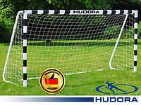 Ворота футбольные Hudora 300x200x90cm +сетка Германия, фото 1