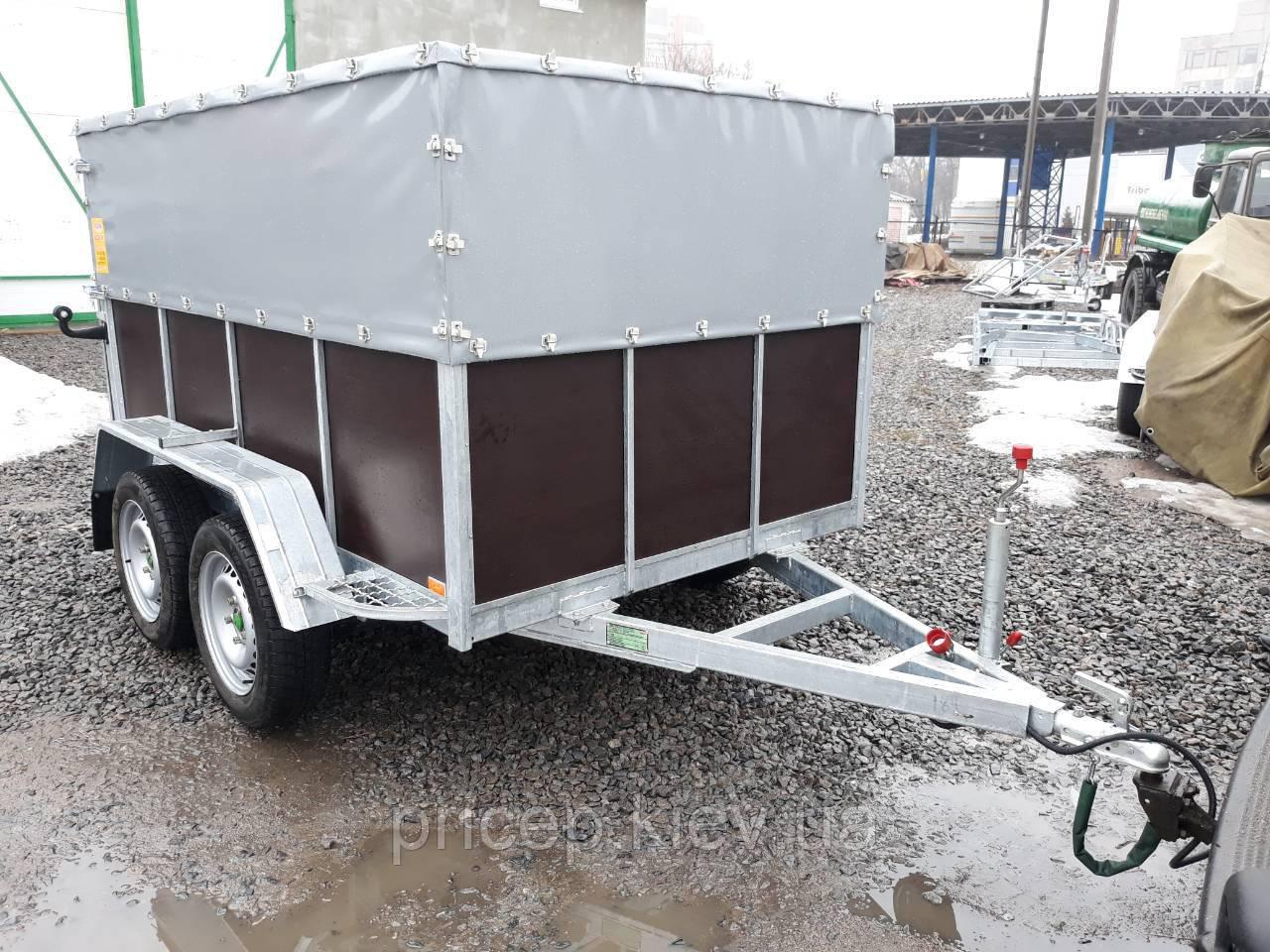 Прицеп для перевозки скота 2,8м х 1,55м. Без тормозов.