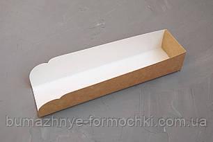 Підкладка під хот-дог, білого кольору, 205х50х40
