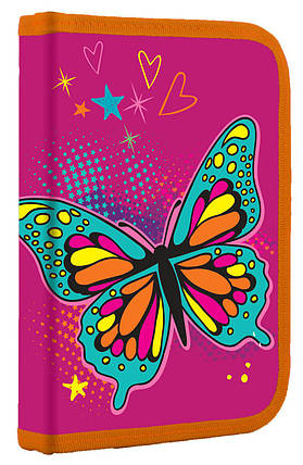 Пенал одинарный с клапаном Butterfly 531793 1 Вересня, фото 2