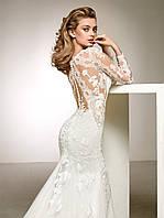 Свадебное платье с открытой спиной с лейсами