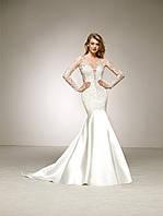 Свадебное платье с евро сеткой