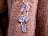 Моховий агат намисто з натуральним моховим агатом в сріблі, фото 3