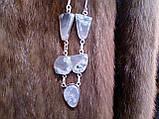 Моховий агат намисто з натуральним моховим агатом в сріблі, фото 5