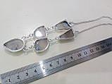 Моховый агат ожерелье с натуральным моховым агатом в серебре, фото 6