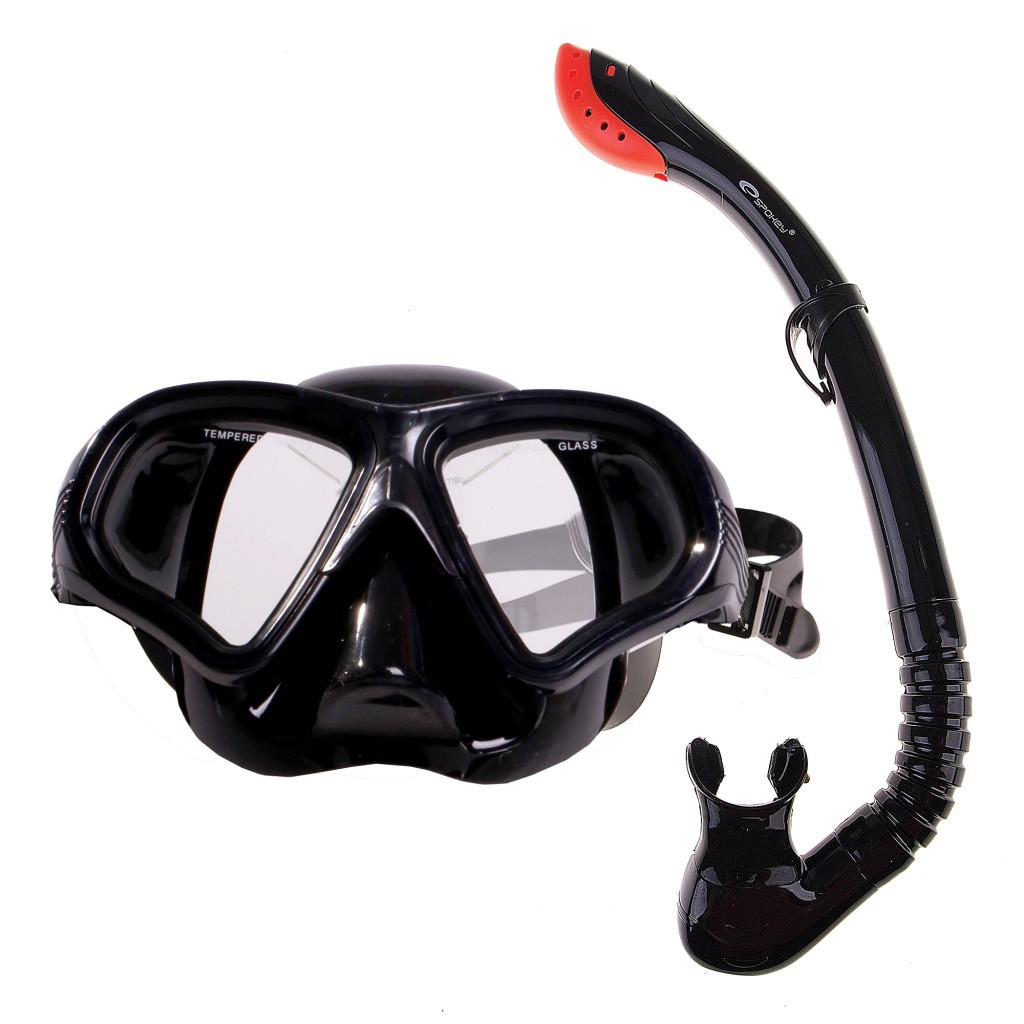 Маска для плавания Spokey Tortuga 837789 (original), комплект с трубкой, маска для ныряния, взрослая