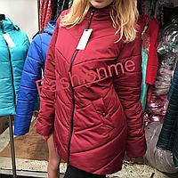 Стильная женская куртка на весну демисезонная БАТАЛ