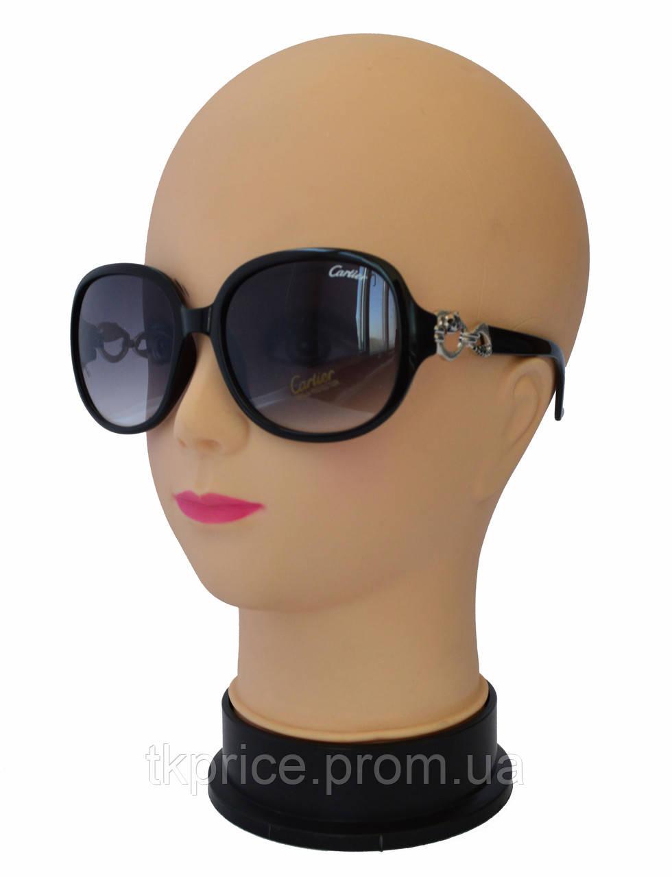 Женские солнцезащитные очки качественная реплика Cartier
