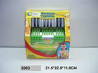"""Аккордеон 2003/88357R """"Веселая гармонь"""" в кор.21,5*22*11"""