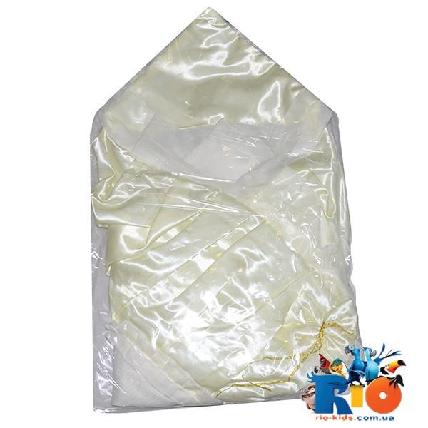 Детский атласный конверт на выписку с бантиком для новорожденных, 1 ед. в упаковке