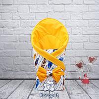 """Двухсторонний Яркий оранжевый конверт-одеяло """"Valleri"""" , фото 1"""