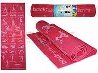 Коврик для йоги и фитнеса 173/61/0,5 см.