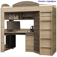 """Кровать-горка """"Чердак"""" со шкафом и столом, фото 3"""